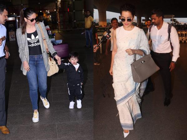 Taimur Is Snapped At The Airport With Mum Kareena Kapoor; Kangana Ranaut's Classy Airport Look
