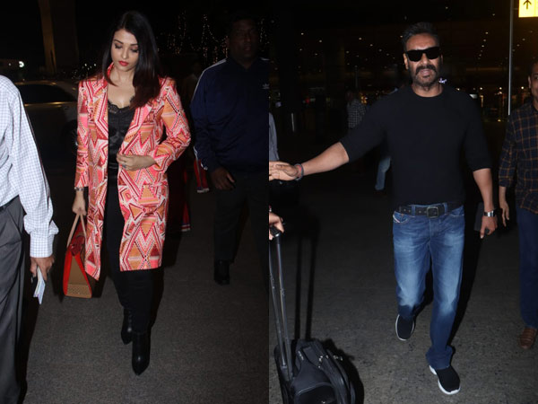 Aishwarya Rai Looks Beautiful As She Returns From Doha; Ajay Devgn Also Spotted At The Airport
