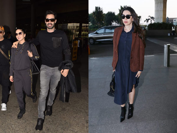Karishma Kapoor's Effortlessly Chic Airport Look; Sunny Leone & Daniel Are All Smiles At The Airport