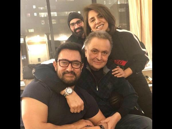 Aamir Khan Visits Rishi Kapoor In New York, Neetu Kapoor Says, 'He Is A True Superstar'! [PIC]