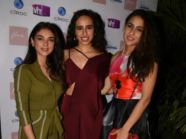 Sara Ali Khan And Aditi Rao Hydari Look Fabulous At Namrata Purohit's Song Launch