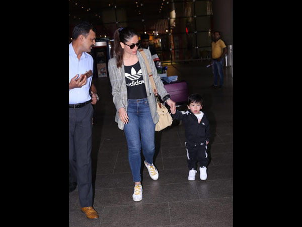 Tim Tim And Mum Kareena At The Airport