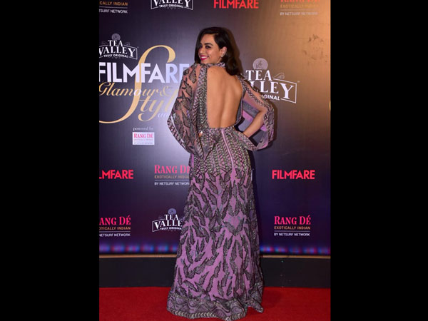 Soundarya Sharma Showed Off Her Gorgeous Backless Gown