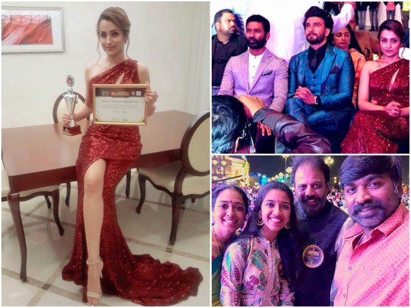 Asiavision Awards 2019 Photos: Dhanush, Ranveer Singh, Vijay Sethupathi, Trisha & Others!