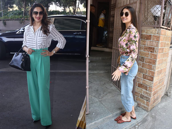 Pictures: Anushka Sharma Spotted In A Casual Avatar; Madhuri Dixit's Chic Airport Look