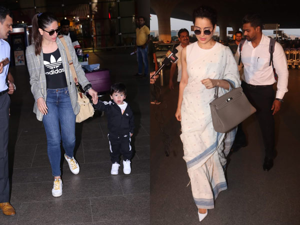 Taimur Is Snapped At The Airport With Mum Kareena Kapoor; Kangana Ranaut's Classy Airport Look