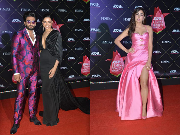 Deepika-Ranveer Make A Glamorous Entry At The Femina Beauty Awards; Sara Ali Khan Looks Beautiful