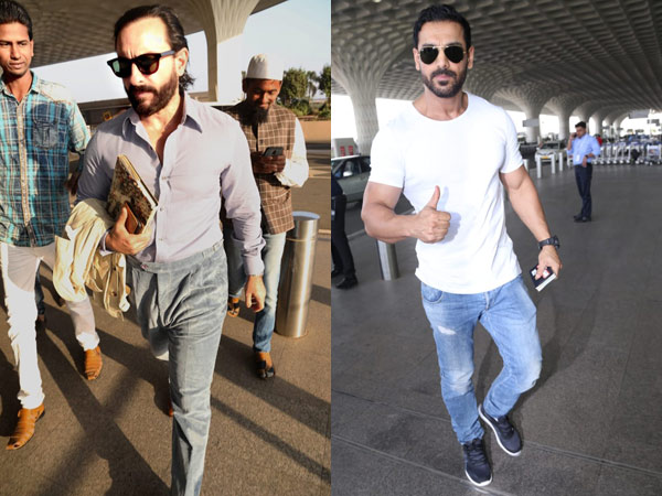 Saif Ali Khan's Classy Airport Avatar; John Abraham Also Snapped At The Airport