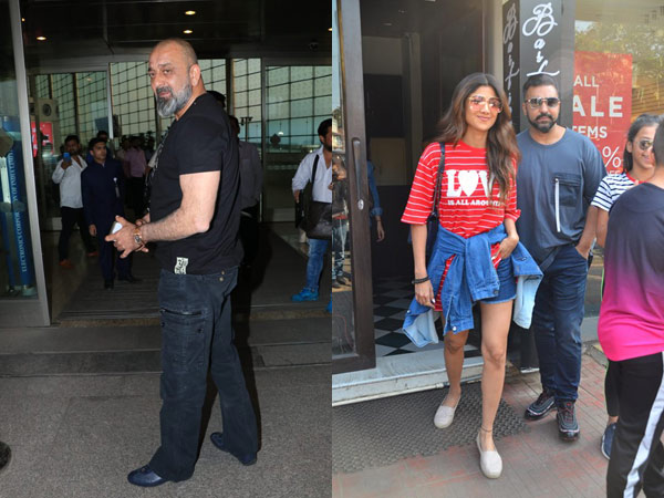 Shilpa Shetty & Her Hubby Raj Kundra Go Out For Lunch; Sanjay Dutt Snapped At The Airport