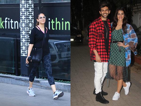 Mira Rajput Snapped After Sweating It Out At Gym; Kriti Sanon & Kartik Aaryan Promote Luka Chuppi