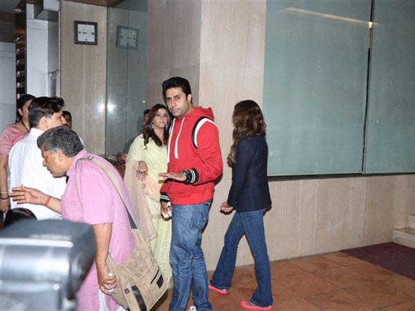Abhishek Bachchan Attends Ekta's Baby's Naming Ceremony