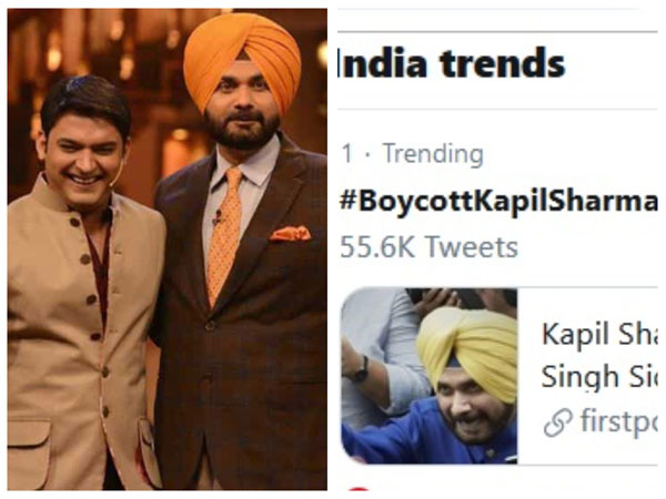 Kapil Sharma In BIG Trouble Again! Fans Trend #BoycottKapilSharma After He Took Stand For Sidhu!