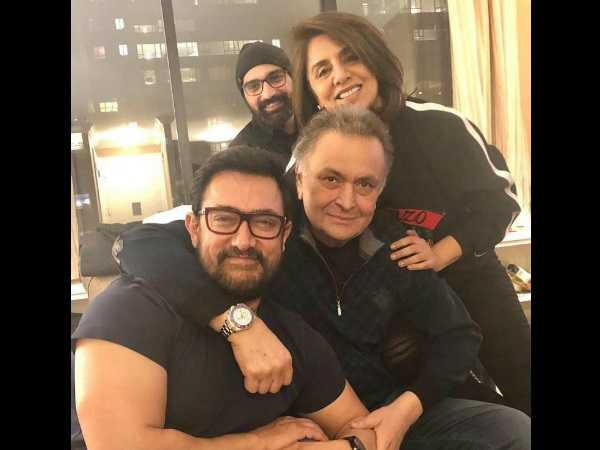 Aamir Khan Visits Rishi Kapoor In New York, Neetu Kapoor Says, 'He Is A True Superstar'! [PIC]