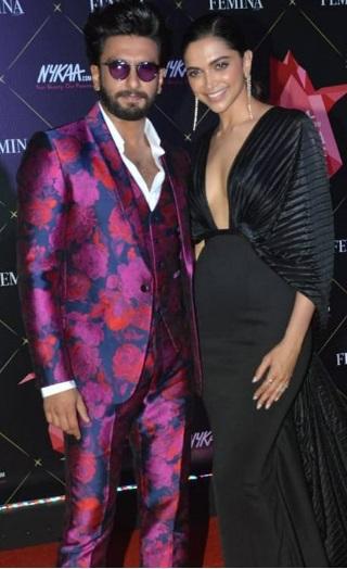 Ranveer- Deepika's Glamorous Entry At Femina Beauty Awards