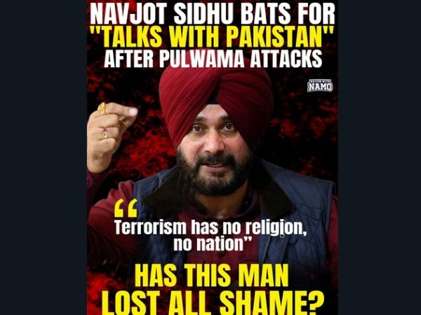 Sidhu's Pulwama Terror Attack Comment
