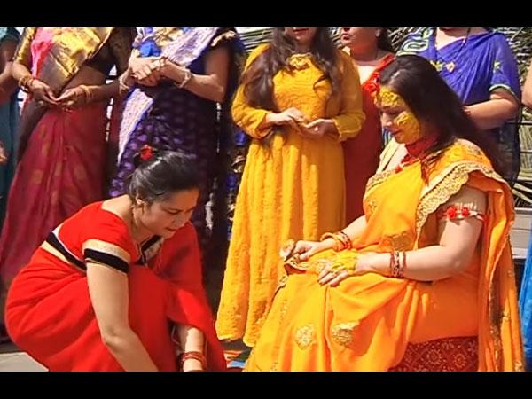 Surbhi Looked Beautiful At Haldi Ceremony
