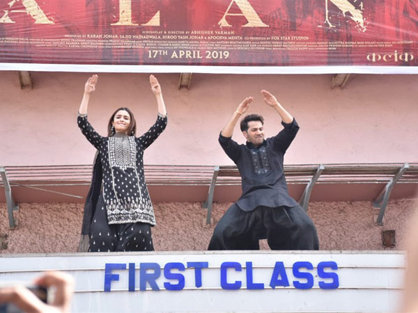 PICS: Alia Bhatt & Varun Dhawan Bust Out Moves On A Theatres Roof While Promoting Kalank!