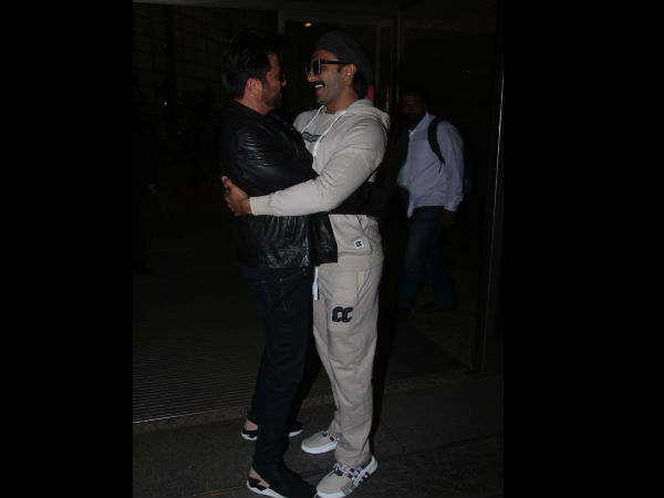 Ranveer & Anil Bump Into Each Other At Airport