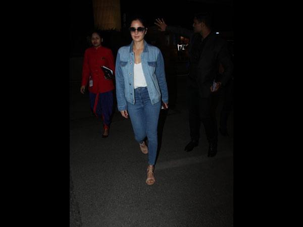 Katrina Kaif Sports An All Denim Look To The Airport ...