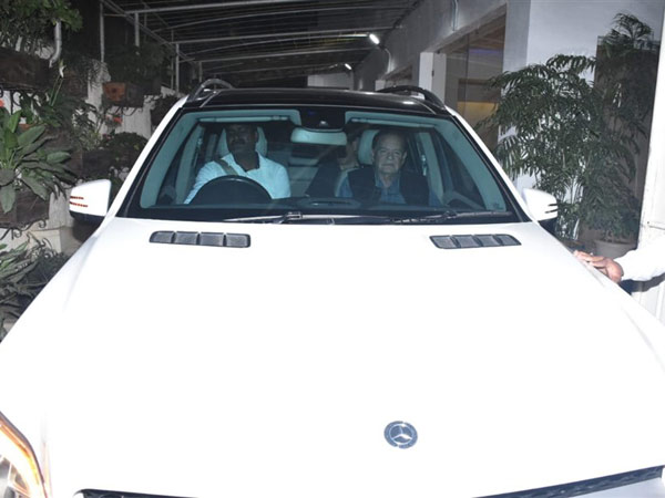 Salim Khan Arrives For The Screening