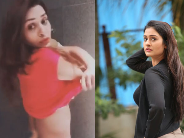 Payal Rajput Viral Video This Clip The Rx 100 Beauty Lifting Top