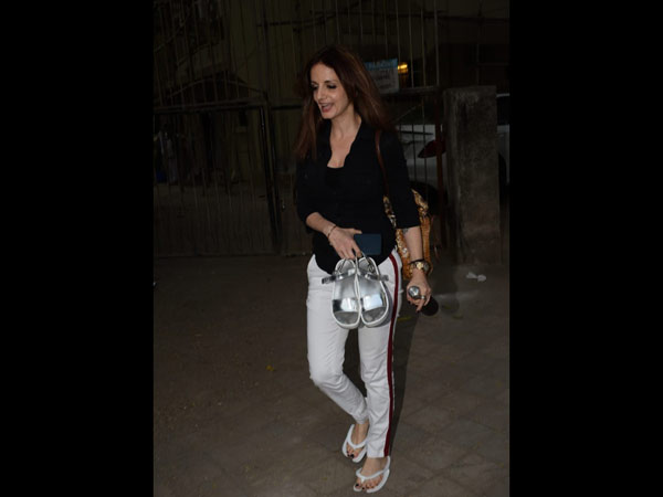 Sussanne Khan Snapped Post Salon Session