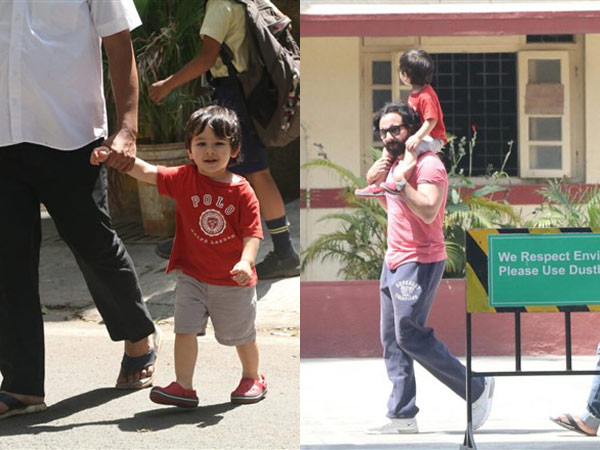 Taimur Gets A Piggyback Ride On Dad's Shoulders