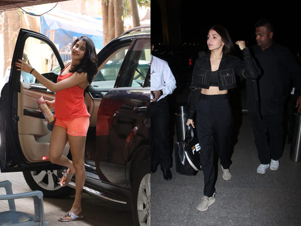VIEW PICS: Anushka Sharma Makes Heads Turn At Airport; Janhvi Kapoor Goes To Gym With A Smile