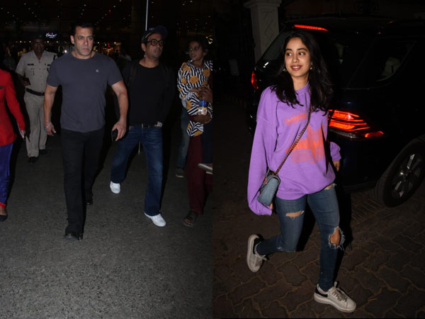 Janhvi Kapoor Snapped At Her Brother Arjun Kapoor's House; Salman Khan Looks Cool At Airport