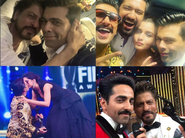 Inside Pics From Filmfare Awards 2019: Ranveer-Deepika Share A Kiss, SRK's Bromance With KJo