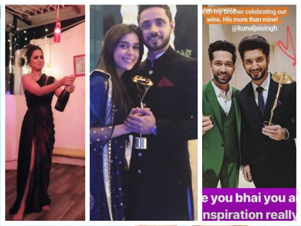 Indian Telly Awards Winners Share Pics; Hina Celebrates Victory; Kunal Calls Nakuul His Inspiration!