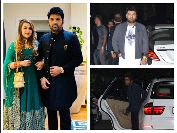 Kapil Sharma & Ginni Chatrath Look Regal At Akash Ambani