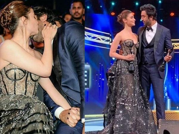 Filmfare Awards 2019: Alia Bhatt KISSES Ranbir Kapoor, Publicly Professes Her Love For Him!
