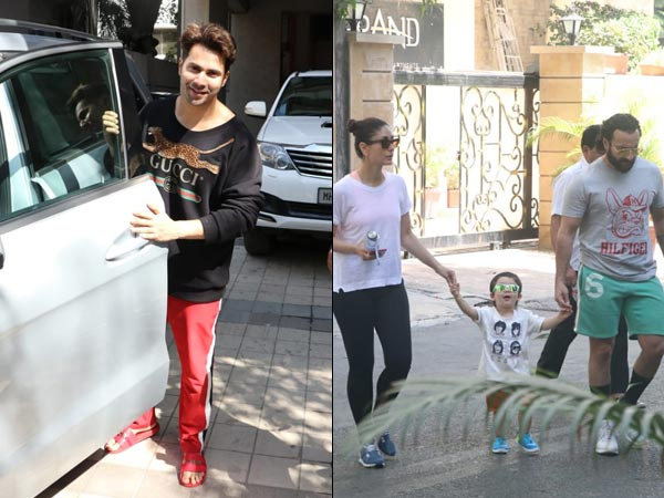 Taimur Ali Khan Enjoys A Family Day Out; Varun Dhawan Snapped At Dad David Dhawan's Office