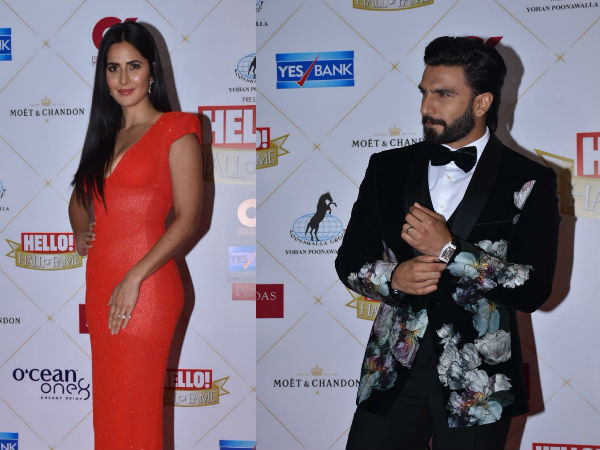Hello! Hall Of Fame 2019: Ranveer Singh Looks Dapper, Katrina Kaif Dons A Lovely Coral Dress