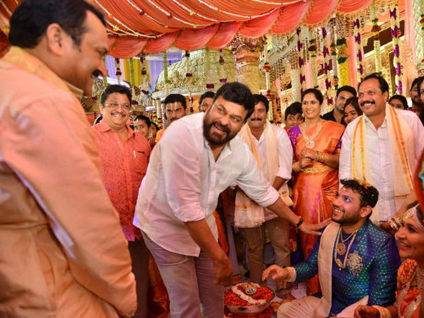 Photos: Chiranjeevi, Rajasekhar And Others Attend A Wedding In Bandla Ganesh's Family!