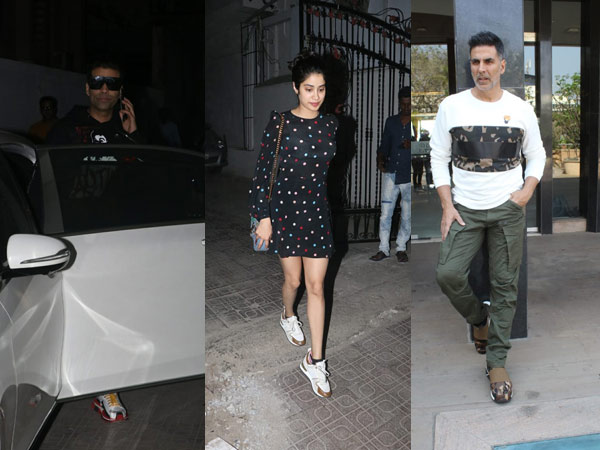 Karan Johar & Janhvi Kapoor Were Spotted At Dharma Productions; Akshay Kumar Promotes Kesari