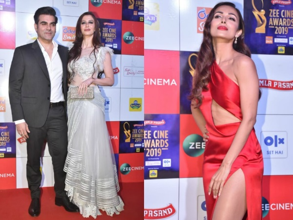 Zee Cine Awards 2019: Arbaaz Khan- Georgia Andriana Arrive Together, Malaika Arora Goes 'Red' Hot