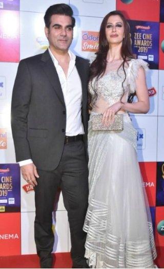 Arbaaz-Georgia Grace The Red Carpet At Zee Cine Awards 2019