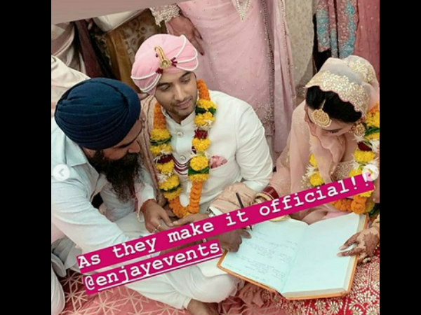In Pic: Ssharad & Ripci's Making Their Wedding Official