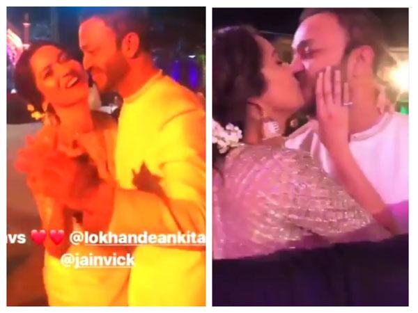 Pavitra Rishta's Ankita Lokhande Kisses BF Vicky Jain At A Wedding; The Video Goes VIRAL!