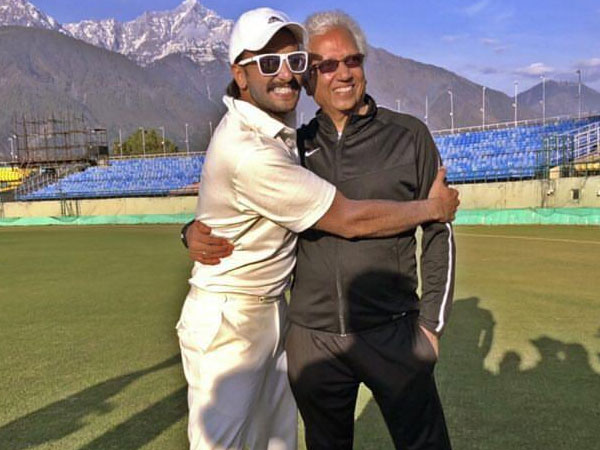 Ranveer Singh With Cricket Legend Mohinder Amarnath