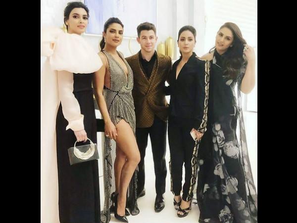 Dreams Do Come True! Hina Khan Poses With Priyanka Chopra & Nick Jones At Cannes Chopard Party!