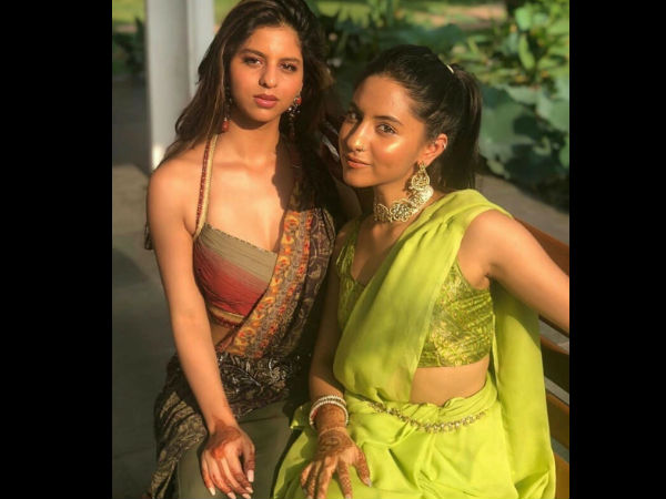 Suhana With Her Cousin