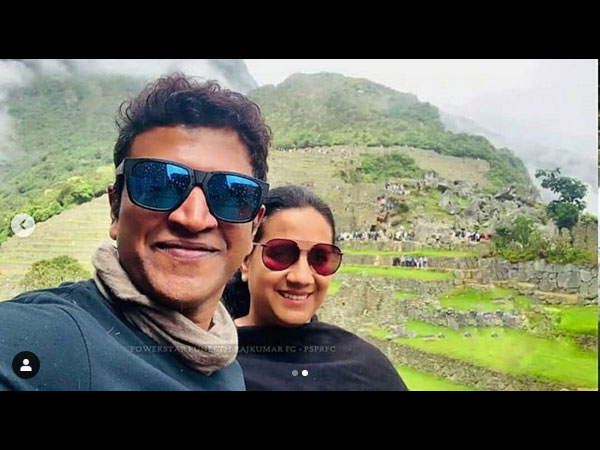Puneeth & Wife Share The Frame