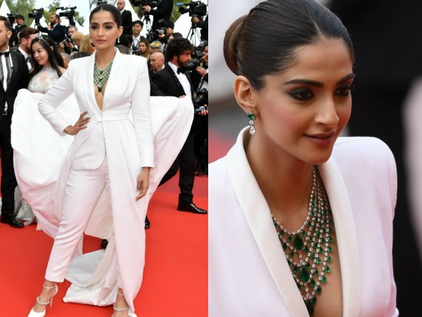 Cannes 2019: Sonam Kapoor's White Tuxedo Gets A Twist; Her Boss Lady Look Is On Point!