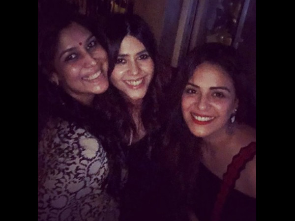 Sakshi & Mona With Ekta