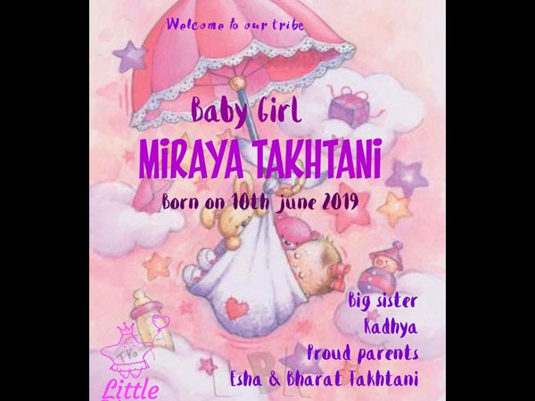 It's A Baby Girl For The Taktanis