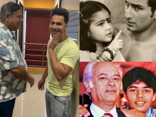 #HappyFathersDay: Varun Dhawan, Sara Ali Khan, Karan Johar & Others Post Adorable Messages