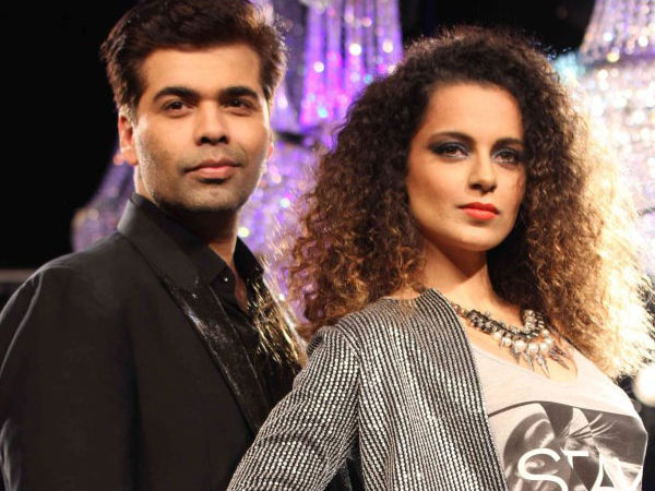 Kangana Lashes Out At Karan Johar Again